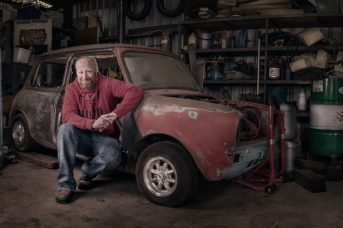 Trevor mini restoration environmental portrait
