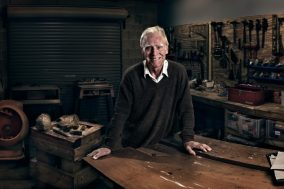 George stonemasonry, woodwork, viticulture and winemaking environmental portrait