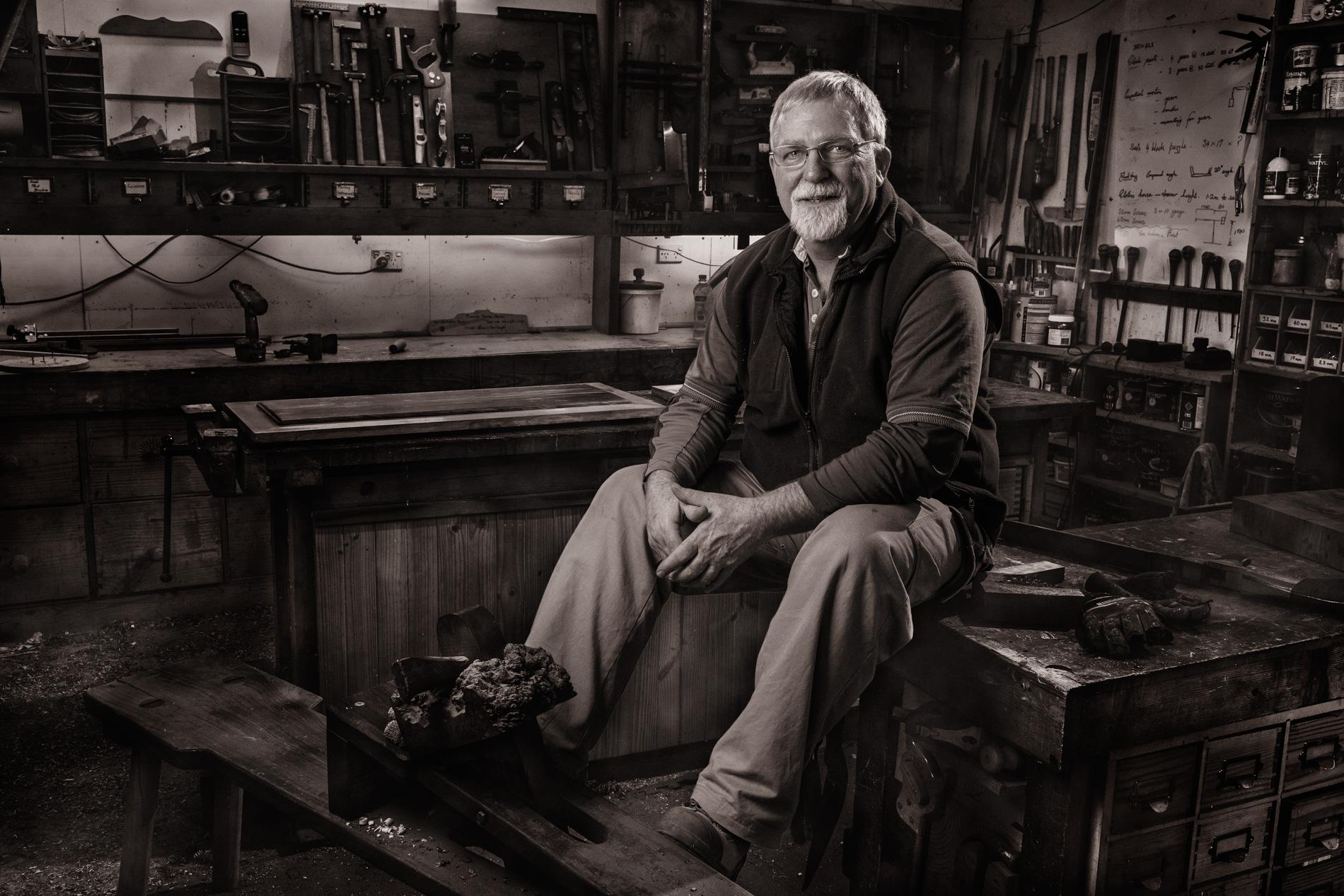Ross Furniture maker wood, timber, shed