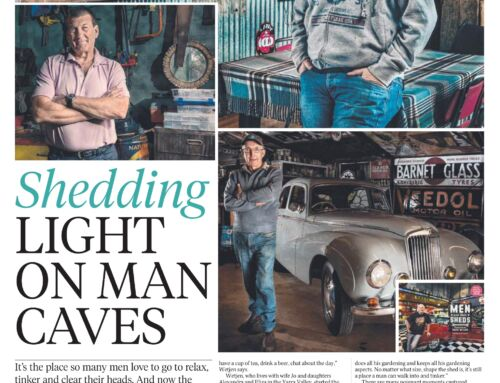Herald Sun News article on Shedding light on Man caves